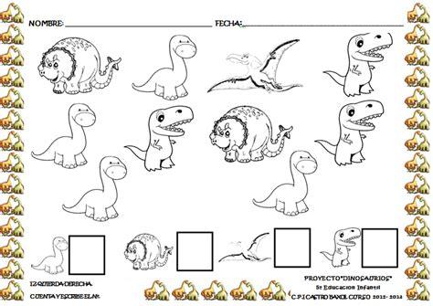 MÁS FICHAS  PROYECTO DINOSAURIOS  | Actividades de dinosaurios