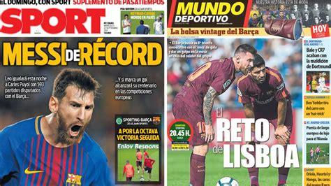 Más Messi en las portadas de Barcelona este miércoles   AS.com