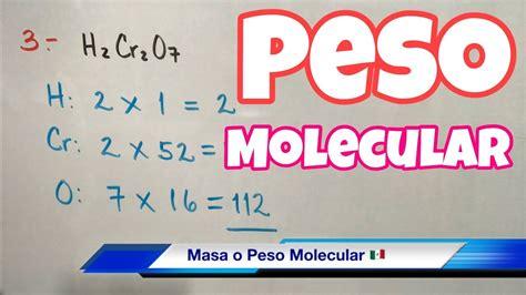 MASA y PESO Molecular  muchos ejemplos    YouTube
