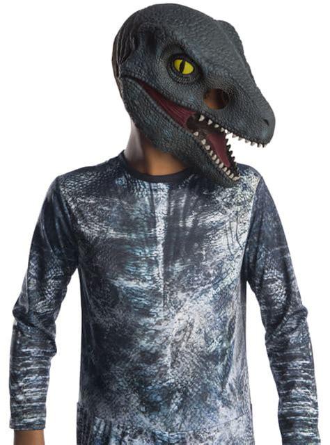 Máscara de Velociraptor Blue para niño   Jurassic World ...