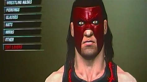 MASKED KANE  NEW  CAW for WWE 12 with FORMULA    extra ...