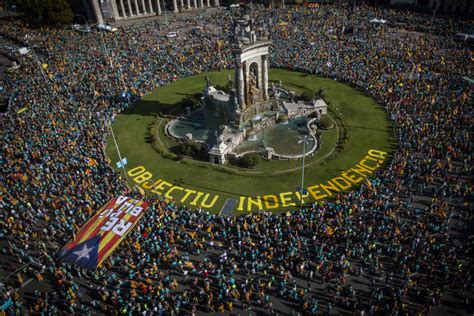 Massive rally conducted for Catalonia's secession in ...