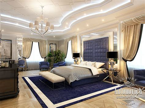 Master bedroom from Antonovich Design on Behance