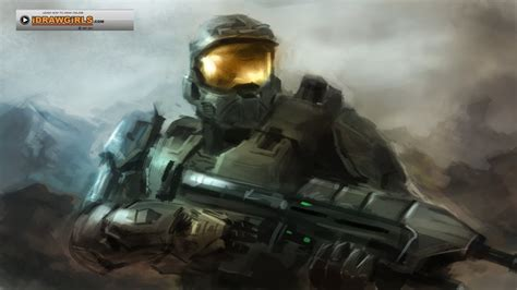 Master Chief Halo digital painting tutorial   YouTube