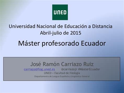 Máster profesorado ecuador tema4 jr carriazo