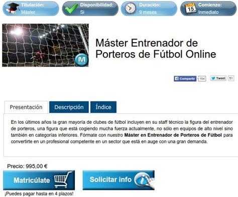 Máster y cursos entrenador de fútbol: opiniones y precios