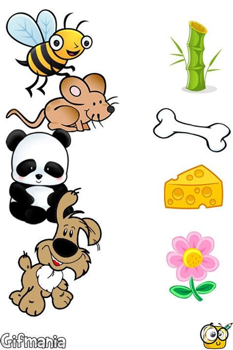 match animals and food #activitypages #connect #match ...