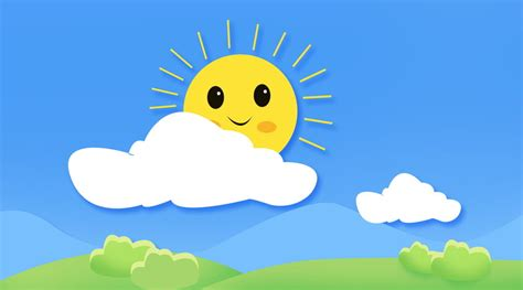 Material De Fundo Bonito Sol Bom Dia Dos Desenhos Animados ...