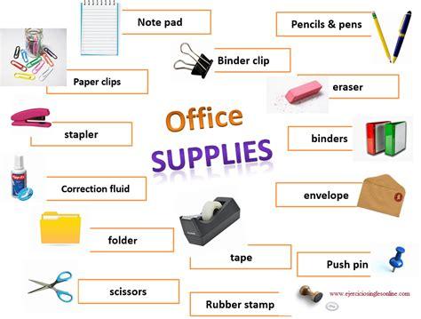 Material de oficina en inglés   Ejercicios inglés online