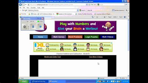 math playground thinking blocks videos.wmv   YouTube
