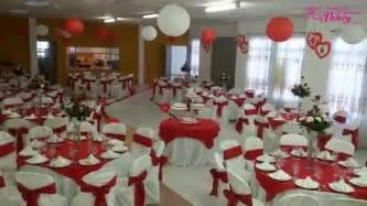 Matrimonio decoración en color rojo   YouTube