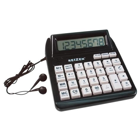 MaxiAids | Reizen Talking Calculator with Repeat Key  English