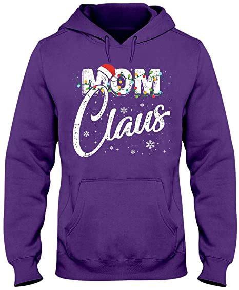 MCTEL Mom Claus Matching Santa Hat Christmas Pajama T ...