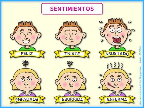 Me encanta escribir en español: Los sentimientos