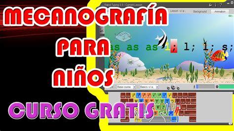 Mecanografía para niños | Curso de mecanografía para niños ...