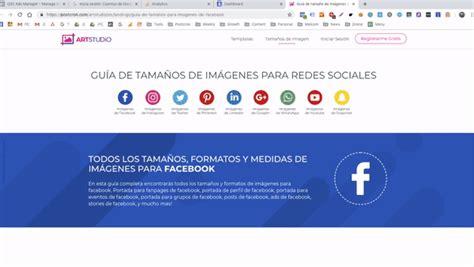 MEDIDAS PARA REDES SOCIALES 2019 | STUDIO AREA 51