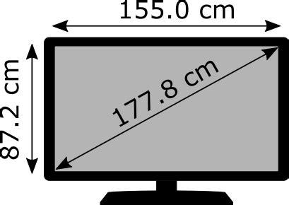 Medidas TV de 70 pulgadas ¿Cuántos centímetros son?