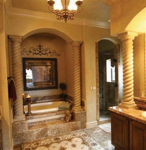 Mediterranian Bathroom  rope columns by Realm of Design ...