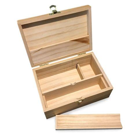 Medium Wooden Storage Box w/ Latching Lid & Rolling Jig ...