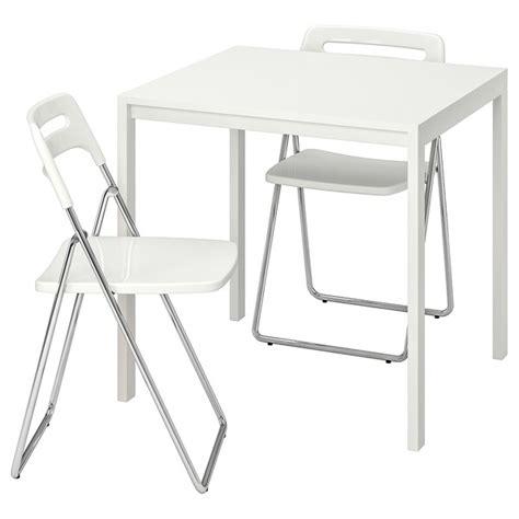 MELLTORP / NISSE Mesa+2 sillas plegables   blanco, blanco ...