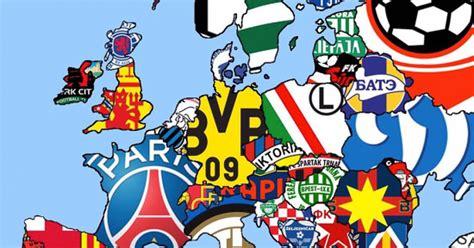 [ MEMEDEPORTES ] Mapa de Europa según el club con más ...