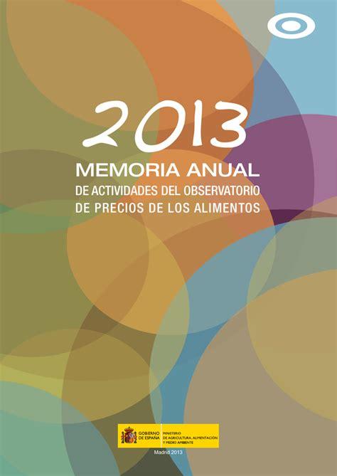 Memoria anual 2013   Ministerio de Agricultura, Alimentación y
