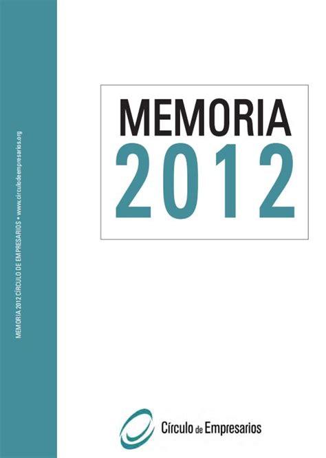 Memoria Círculo 2012   Círculo de Empresarios