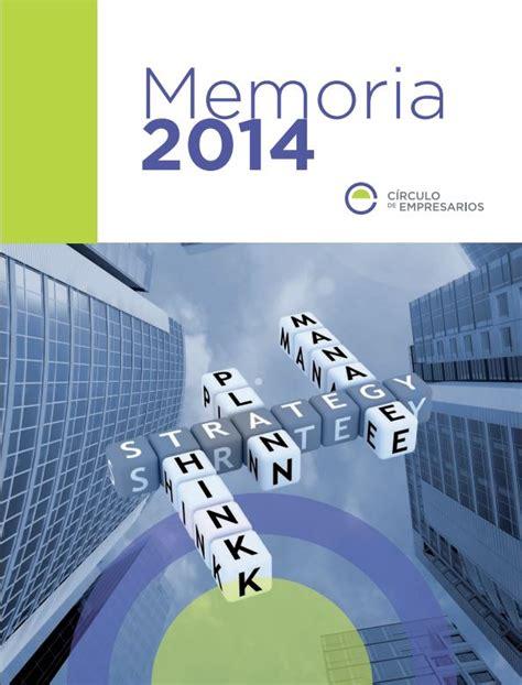 Memoria Círculo 2014   Círculo de Empresarios