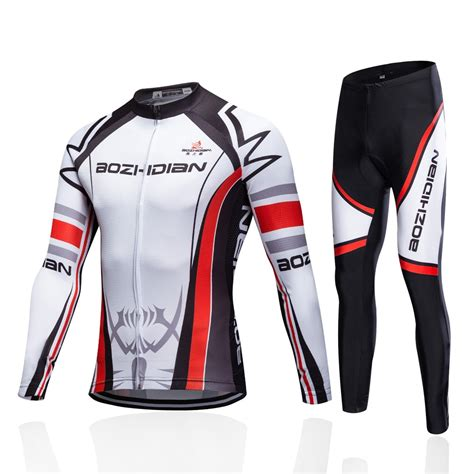 Men Breathable Gel Pad Cycling Clothing Winter Thermal ...