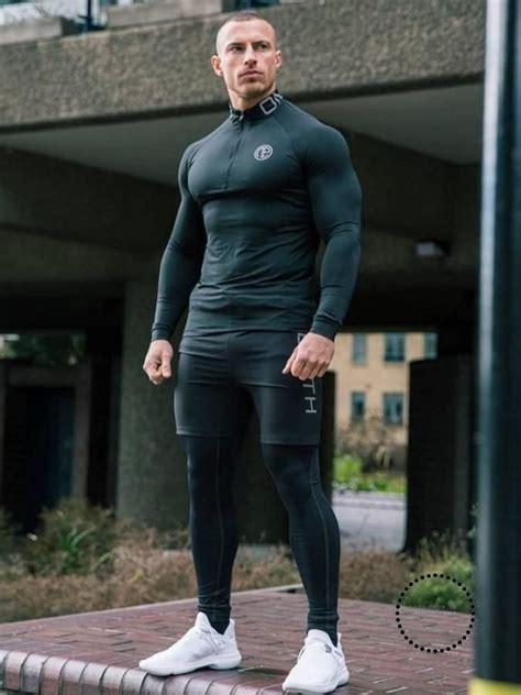 Men Gym Clothes Man Compression Set 3 pieces   Mens ...