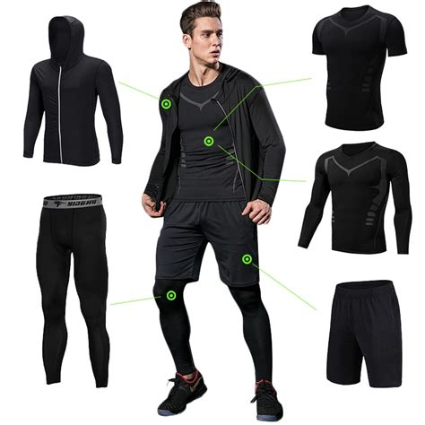 Men Gym Fitness Clothing Sportswear Workout Tights ...