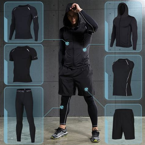 Men s Compression Sportswear Suit GYM Tights Sports ...