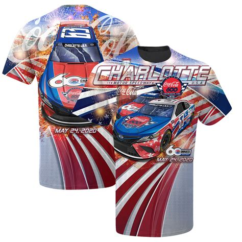 Men s NASCAR Red 2020 Coca Cola 600 Sublimated Graphic T Shirt
