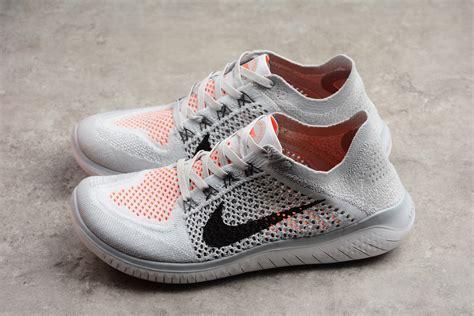 Men s Nike Free Run Flyknit 2018 Pure Platinum/Black White ...