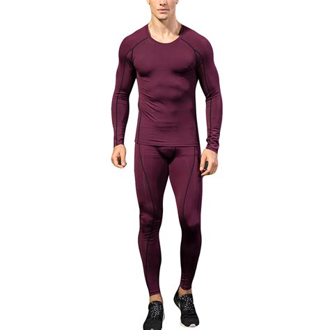 Mens Compression Pants Shirt Under Base Layer Workout ...