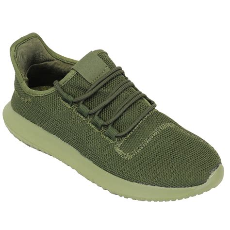 Mens Trainers Jogging Knit Shoes Lace Up Walking Running ...