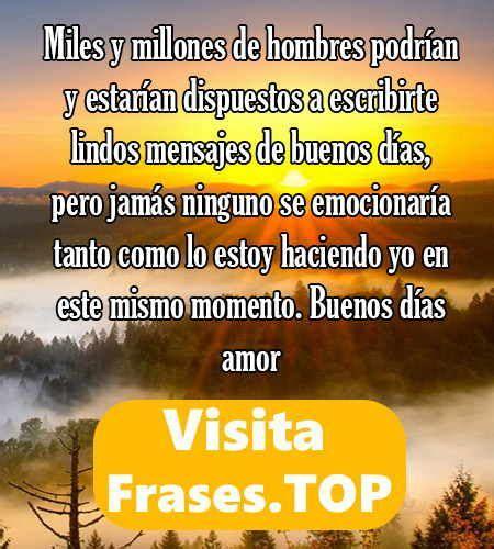 Mensajes de Buenos Días Mi Amor  enamorar novia mi vida ...