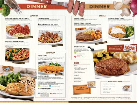 Menu at Denny s restaurant, Las Vegas, 3771 S Las Vegas Blvd