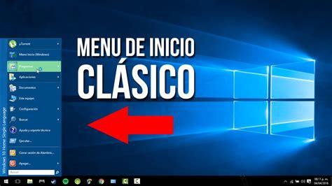 ¡Menú clásico para Windows 10!  SUPER FÁCIL!    YouTube