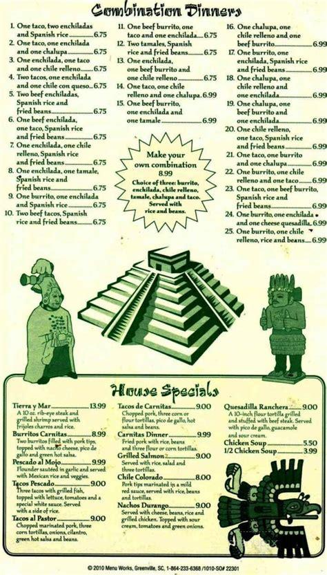 Menu of La Tolteca in Boonville, MO 65233