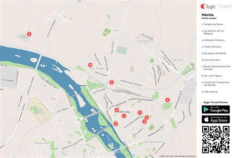 Mérida: Mapa turístico para imprimir   Sygic Travel
