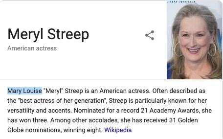 Meryl Streep s Real Name Is Actually Mary Louise, And ...