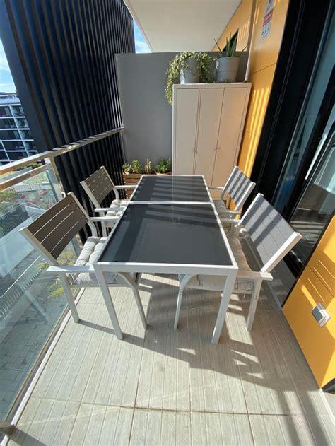 Mesa + 4 sillas jardín  conjunto sjalland IKEA  de segunda ...