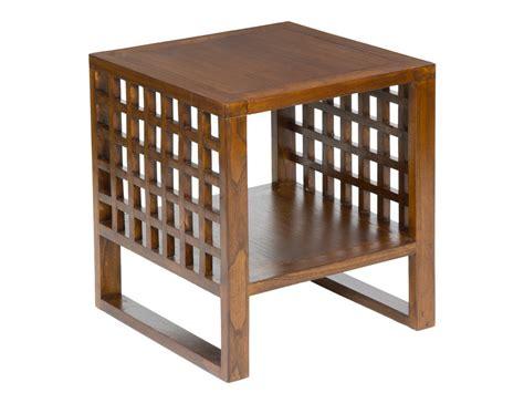 Mesa auxiliar cuadrada madera para sofá   Muebles de salón