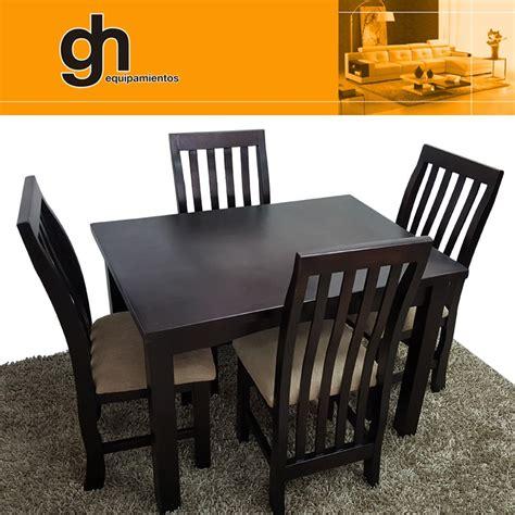 Mesa De Comedor Chica Con 4 Sillas Cocina Desayunador ...