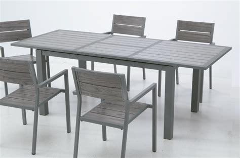 Mesa de terraza y jardin extensible aluminio lamas Suez ...
