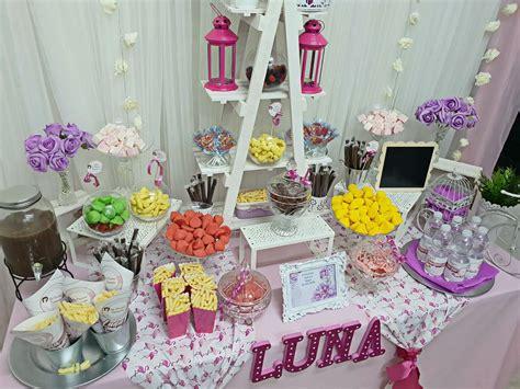 Mesa dulce para comuniones 2019   Luna Eventos
