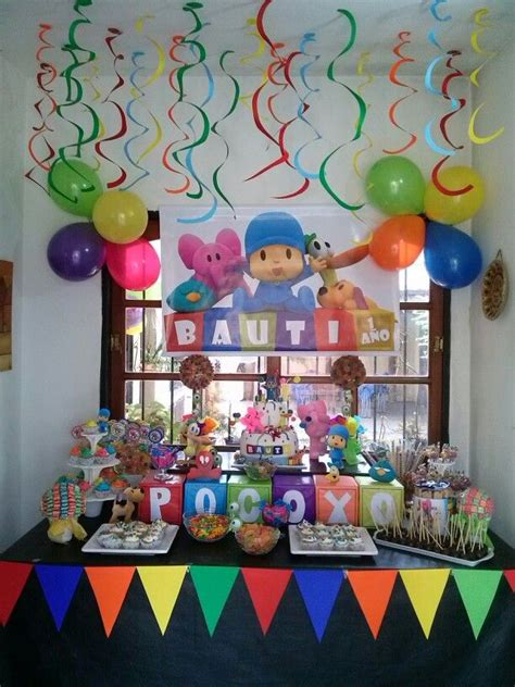 Mesa dulce Pocoyo | ideas fiesta Pocoyo | Cumpleaños ...