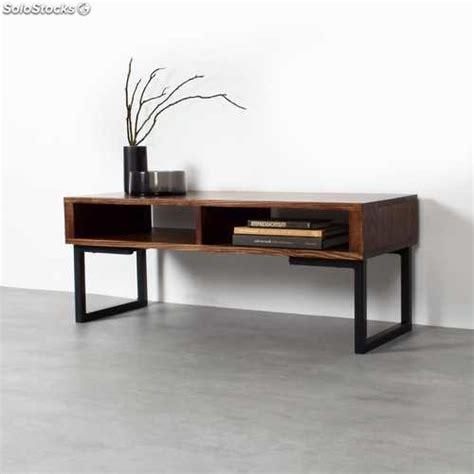 Mesa mueble tv industrial hierro madera colores