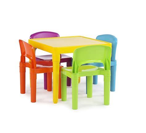 Mesa Para Niños Colores Con 4 Sillas De Plastico Mesita ...